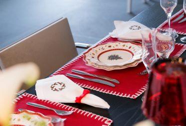 mesa de natal chic