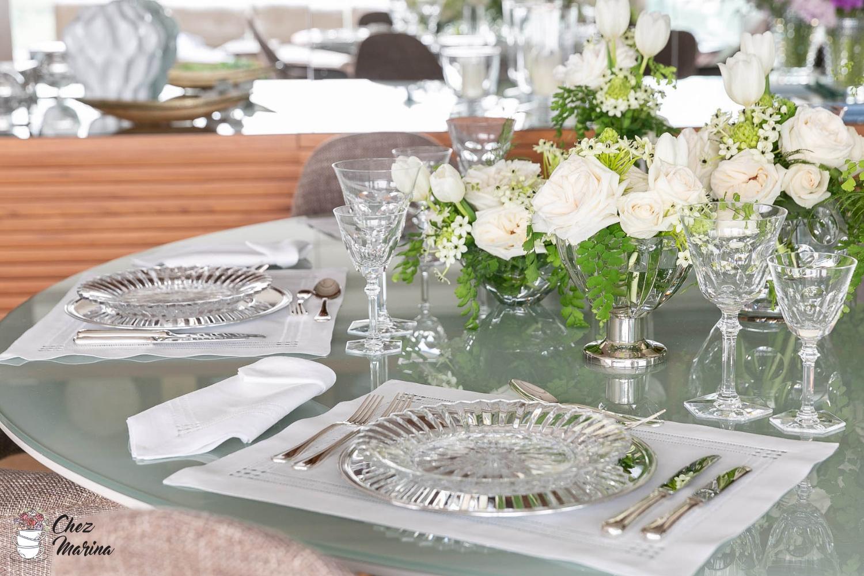 cristais Baccarat na decoração de mesa