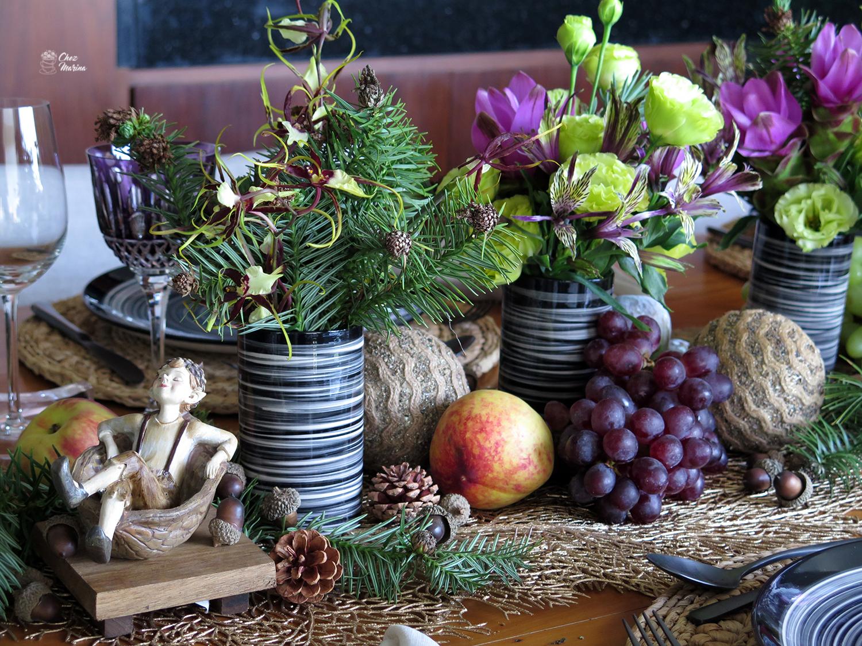 mesa de Natal com frutas